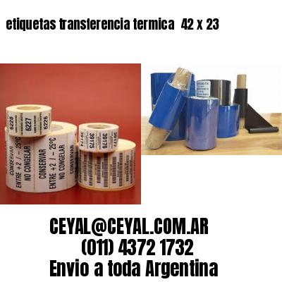 etiquetas transferencia termica  42 x 23