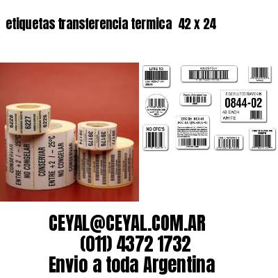 etiquetas transferencia termica  42 x 24