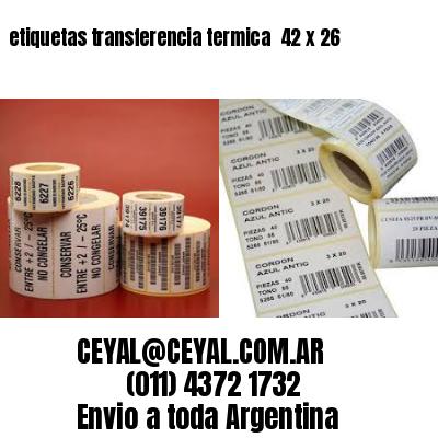 etiquetas transferencia termica  42 x 26