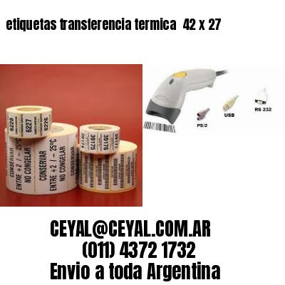 etiquetas transferencia termica  42 x 27