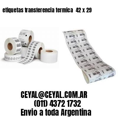 etiquetas transferencia termica  42 x 29