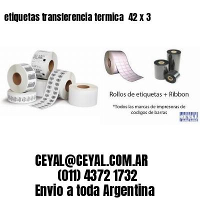 etiquetas transferencia termica  42 x 3
