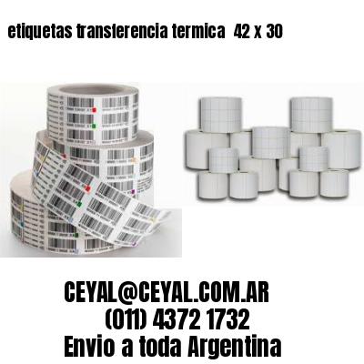 etiquetas transferencia termica  42 x 30