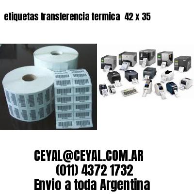 etiquetas transferencia termica  42 x 35