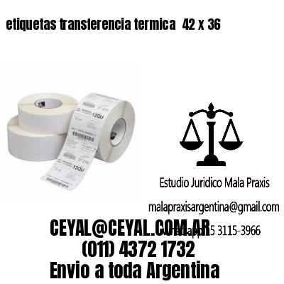 etiquetas transferencia termica  42 x 36