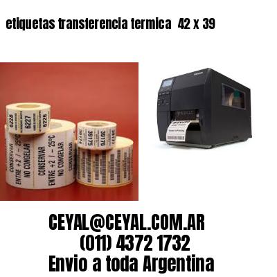 etiquetas transferencia termica  42 x 39