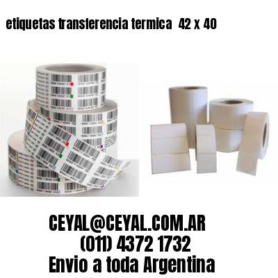 etiquetas transferencia termica  42 x 40