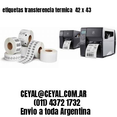 etiquetas transferencia termica  42 x 43