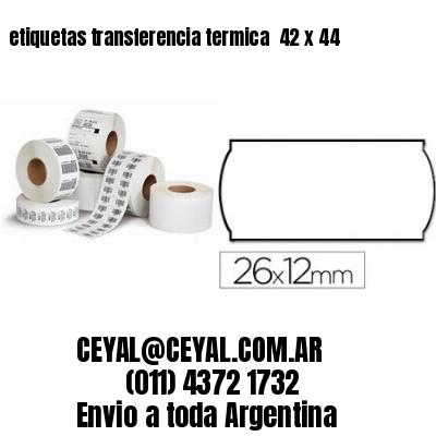 etiquetas transferencia termica  42 x 44