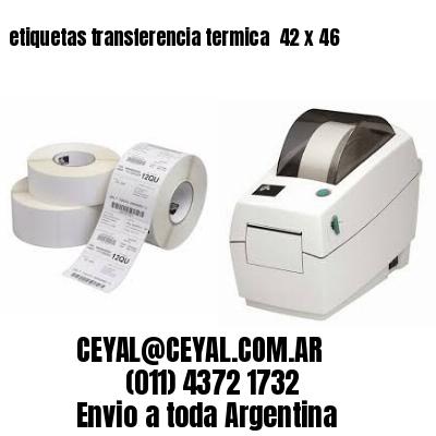 etiquetas transferencia termica  42 x 46