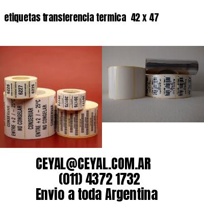 etiquetas transferencia termica  42 x 47