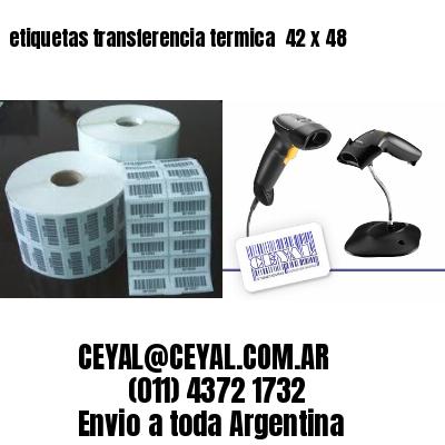 etiquetas transferencia termica  42 x 48