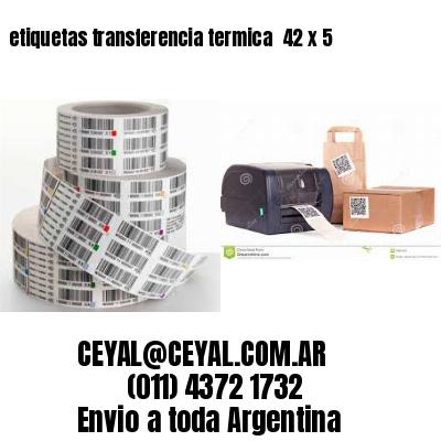 etiquetas transferencia termica  42 x 5