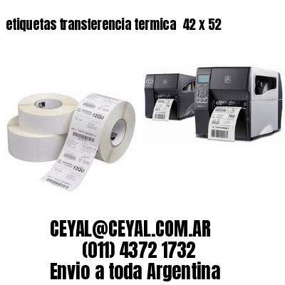 etiquetas transferencia termica  42 x 52