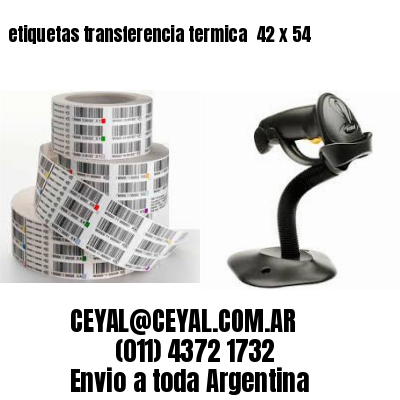 etiquetas transferencia termica  42 x 54
