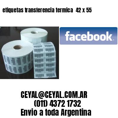 etiquetas transferencia termica  42 x 55
