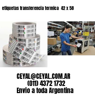 etiquetas transferencia termica  42 x 58