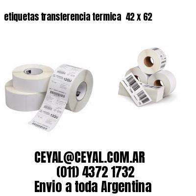 etiquetas transferencia termica  42 x 62