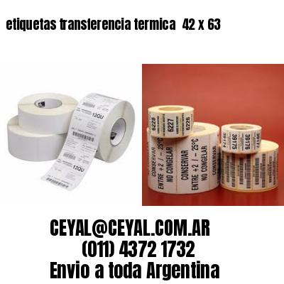 etiquetas transferencia termica  42 x 63