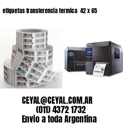 etiquetas transferencia termica  42 x 65