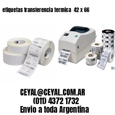etiquetas transferencia termica  42 x 66