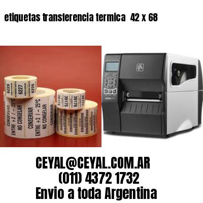 etiquetas transferencia termica  42 x 68