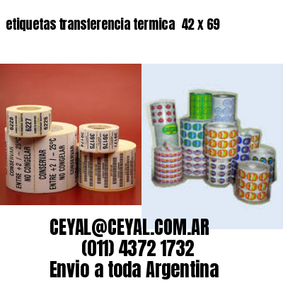 etiquetas transferencia termica  42 x 69