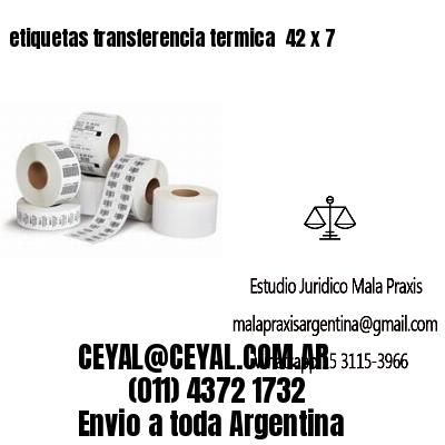 etiquetas transferencia termica  42 x 7