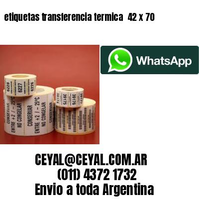 etiquetas transferencia termica  42 x 70