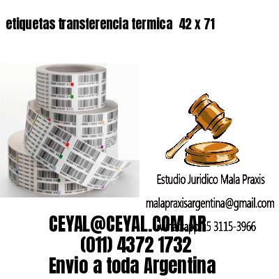 etiquetas transferencia termica  42 x 71
