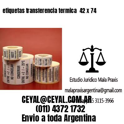 etiquetas transferencia termica  42 x 74