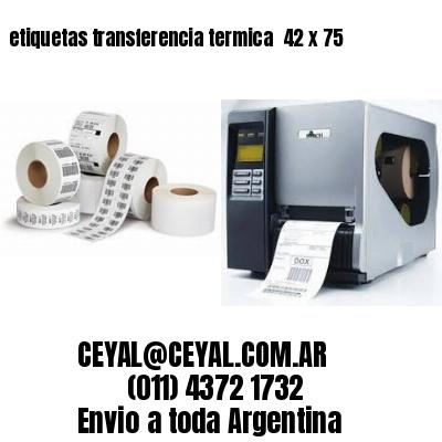 etiquetas transferencia termica  42 x 75
