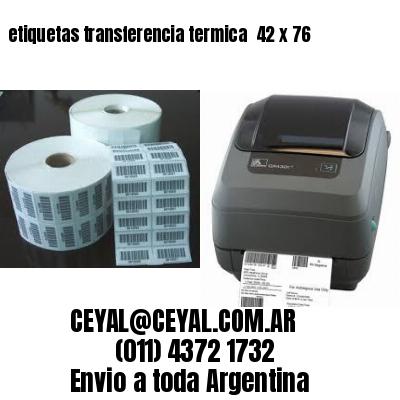 etiquetas transferencia termica  42 x 76