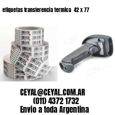 etiquetas transferencia termica  42 x 77