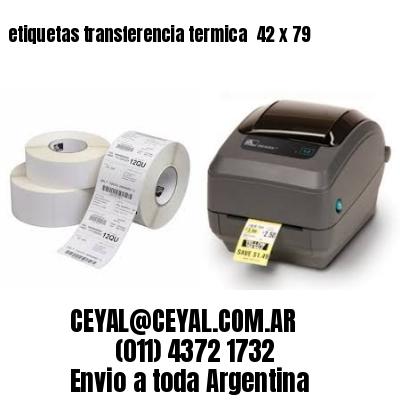 etiquetas transferencia termica  42 x 79