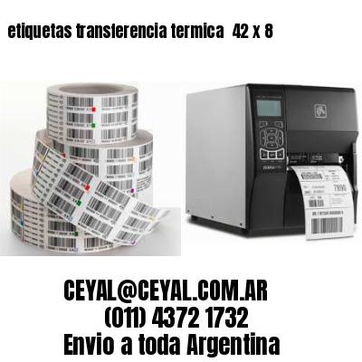 etiquetas transferencia termica  42 x 8