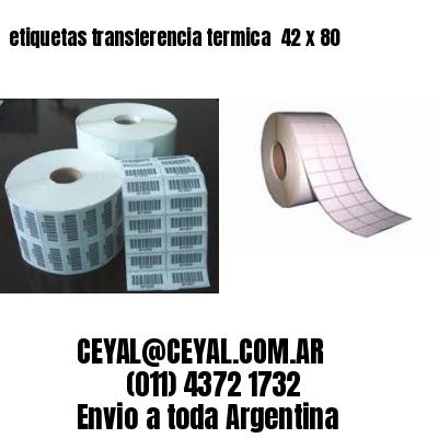 etiquetas transferencia termica  42 x 80