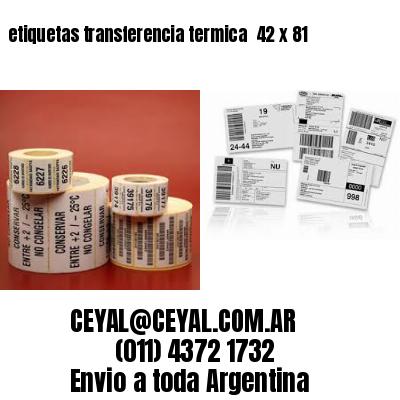 etiquetas transferencia termica  42 x 81