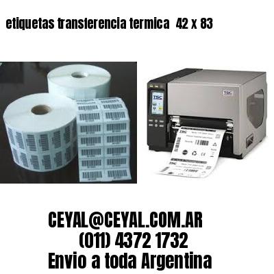 etiquetas transferencia termica  42 x 83
