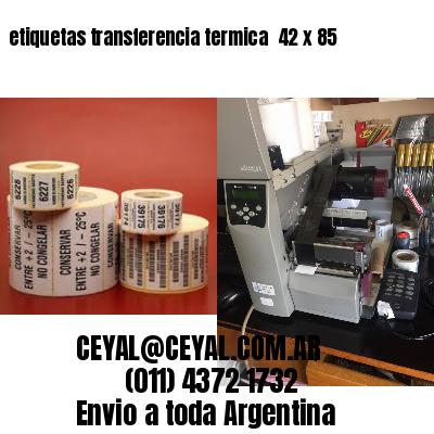 etiquetas transferencia termica  42 x 85