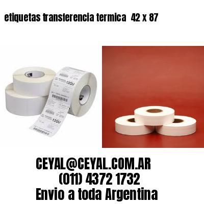 etiquetas transferencia termica  42 x 87