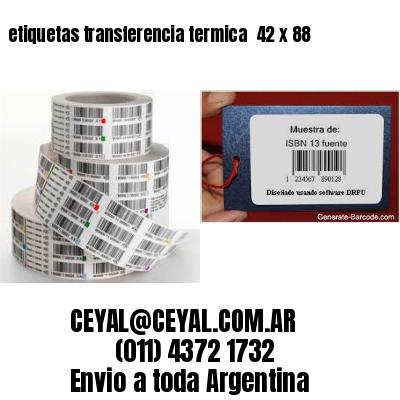 etiquetas transferencia termica  42 x 88