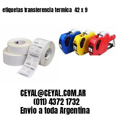 etiquetas transferencia termica  42 x 9