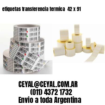 etiquetas transferencia termica  42 x 91