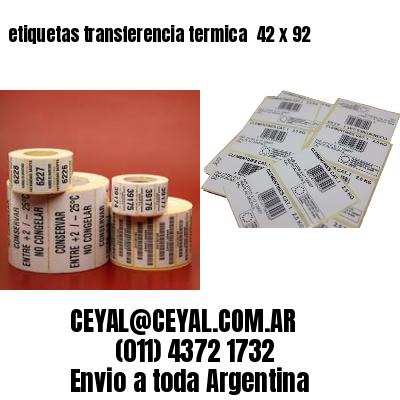 etiquetas transferencia termica  42 x 92