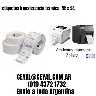 etiquetas transferencia termica  42 x 94