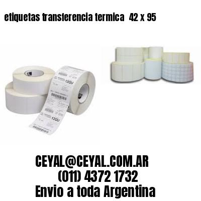 etiquetas transferencia termica  42 x 95