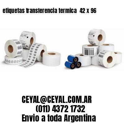 etiquetas transferencia termica  42 x 96