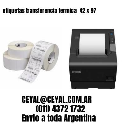 etiquetas transferencia termica  42 x 97