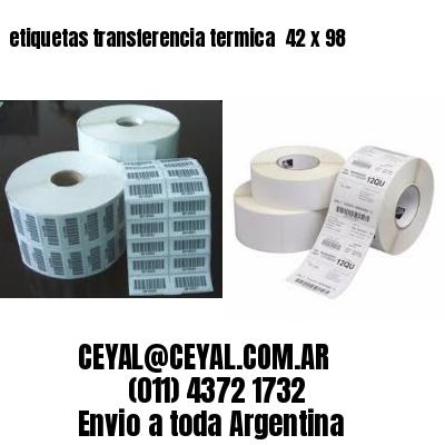 etiquetas transferencia termica  42 x 98